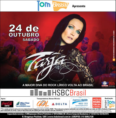 Colors in the road of Tarja Turunen 2015
